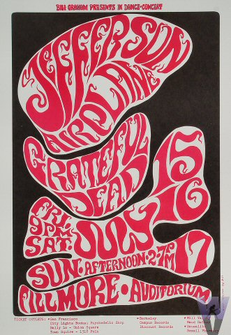 July 15-17, 1966 Fillmore Poster