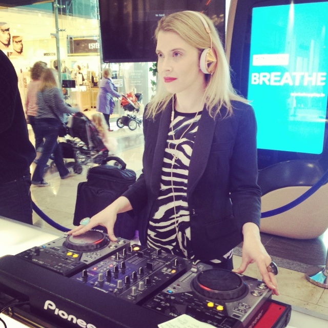 DJing at Dundrum Town Centre Spring Summer fashion shows - 2015