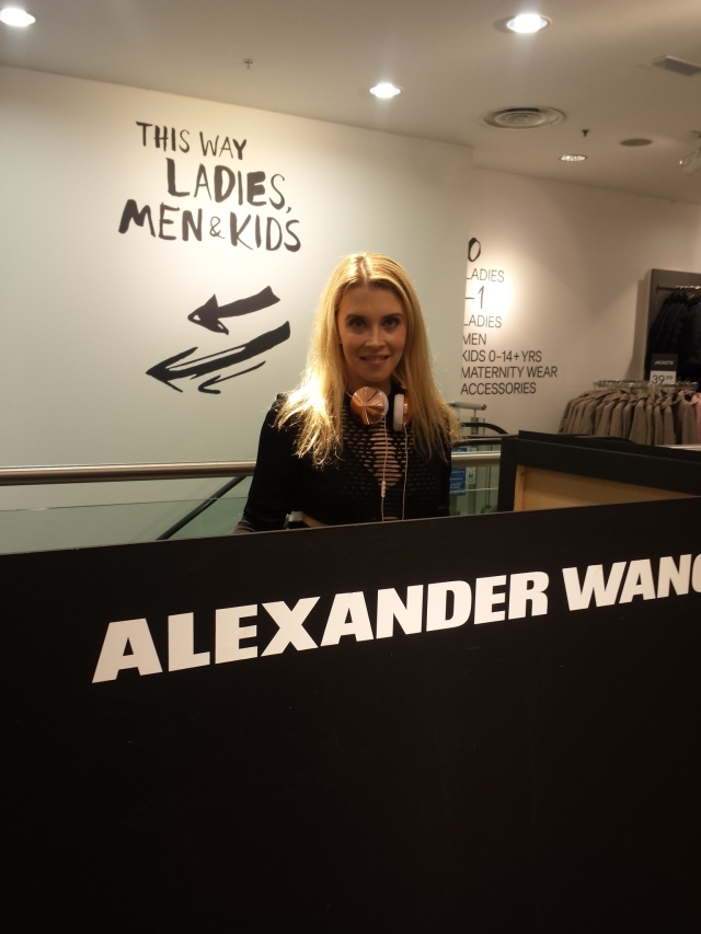DJing at Dublin launch for 'Alexander Wang X H&M' - 2014
