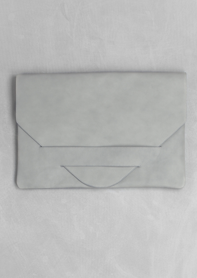 Oversized leather clutch - £95