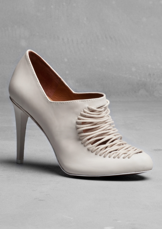 White leather pumps - £95