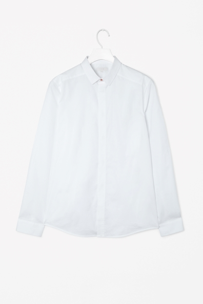 Poplin Shirt with press studs from COS Men