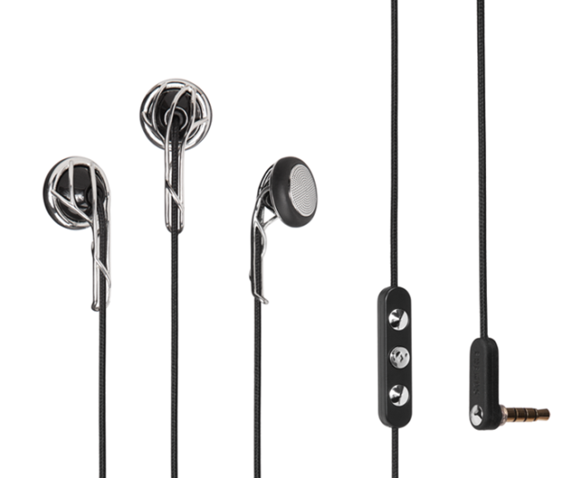 Ella Earbuds in Black and Silver