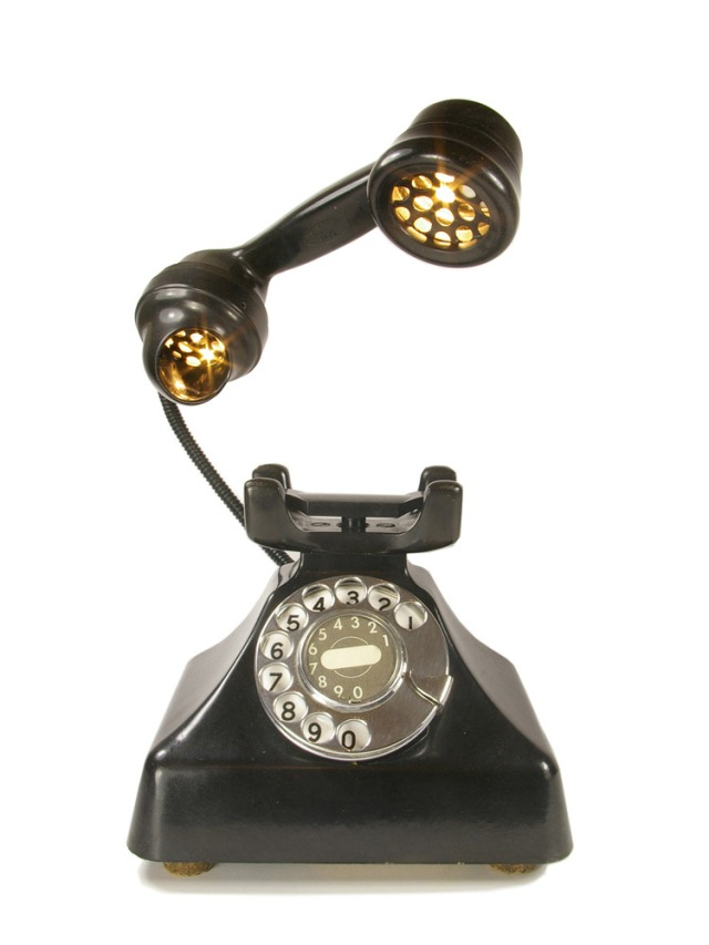 Bakelite Pyramid Phone Lamp