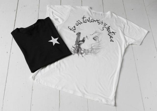 """Girl Licking Gun"" T-shirt"