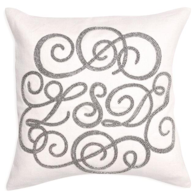 LSD linen beaded pillow
