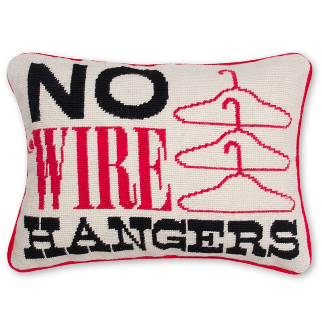 Joan Crawford needlepoint pillow
