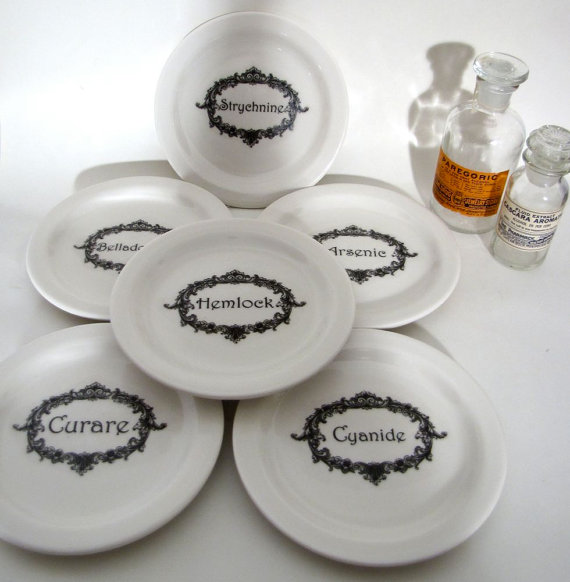 """Name Your Poison"" plates by AustinModern"