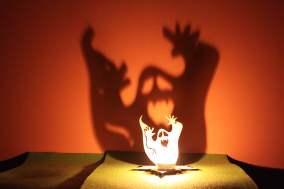 Ghost Shadow Tea Light Holder by Feel My Craft