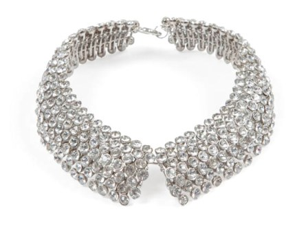 """The Shirt Collar"" rhinestone and silver neckpiece"