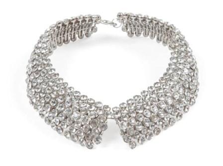 """The Shirt Collar"" rhinestone and silver neckpiece"