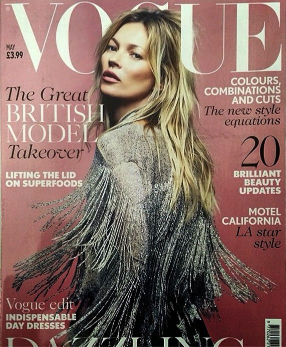 Kate wearing the jacket on the cover of this month's UK Vogue