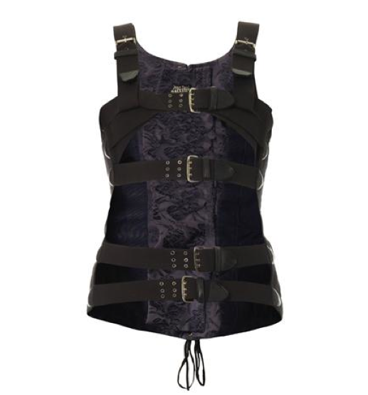 Buckle-strap corset top