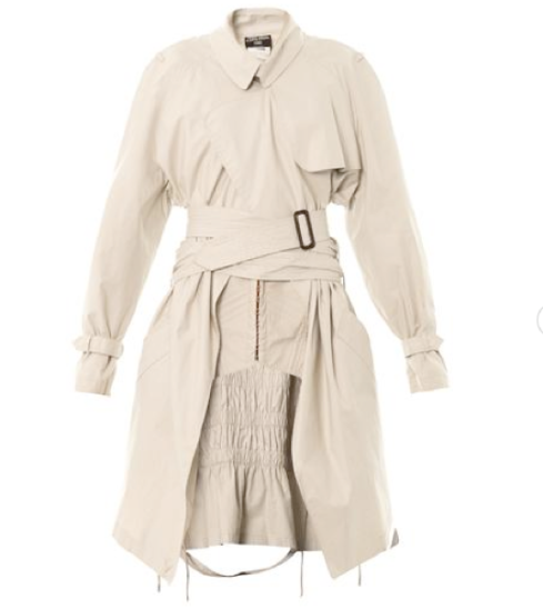 Internal-corset trench coat