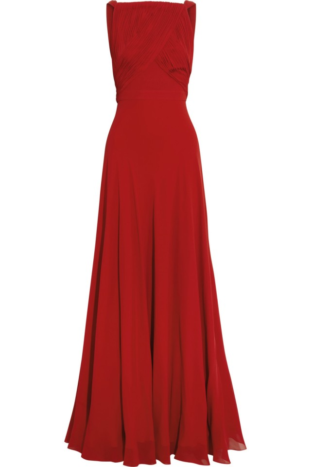 Saint Laurent hand-pleated silk-georgette gown from Net-A-Porter, €6,950