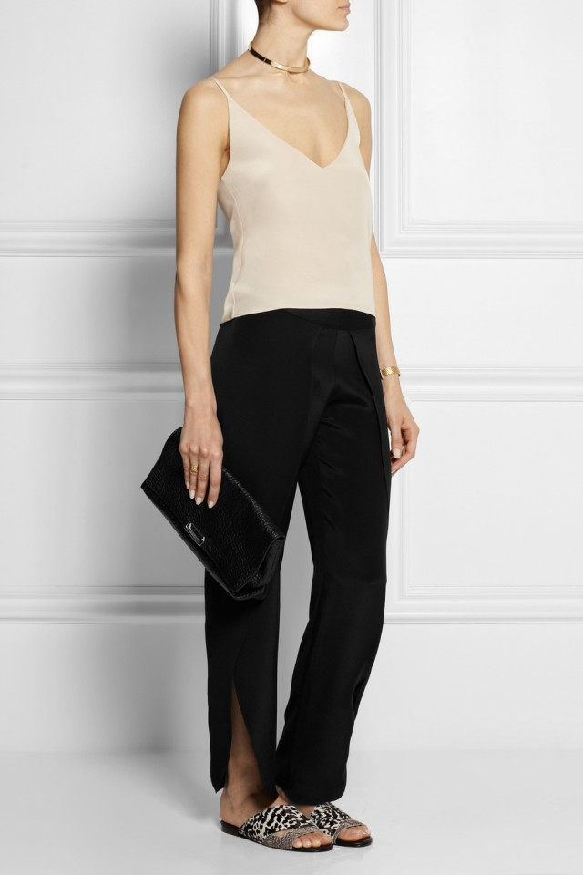 Toulon silk trousers with Rocha silk camisole